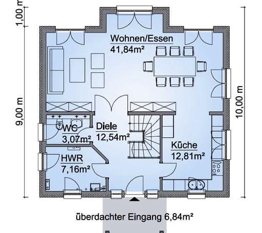 Scanhaus SH 160 S Erdgeschoss