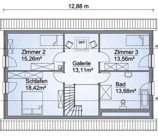 Scanhaus SH 160 Variante D Dachgeschoss