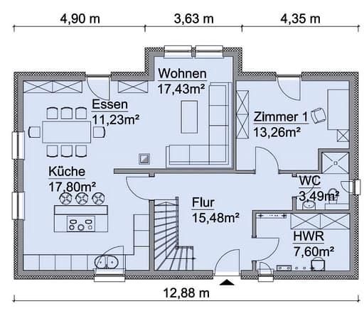 Scanhaus SH 160 Variante D Erdgeschoss
