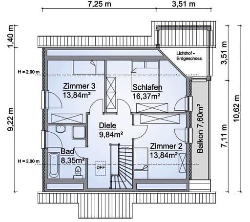 Scanhaus SH 160 WG Dachgeschoss