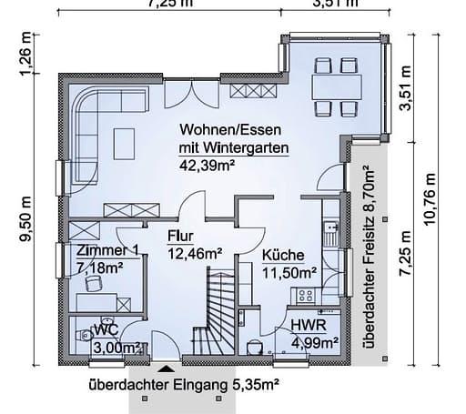 Scanhaus SH 160 WG Erdgeschoss