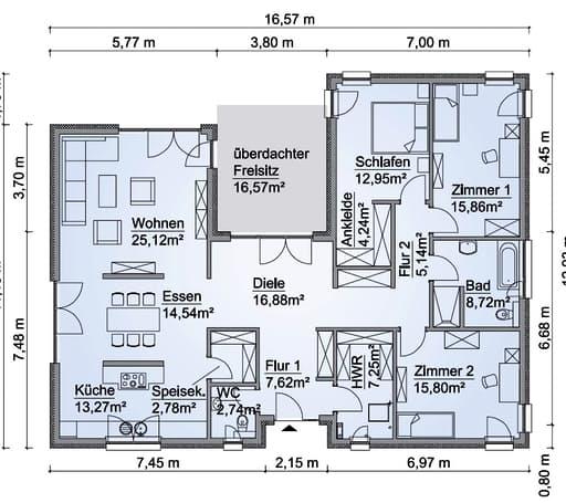 Scanhaus SH 169 WB Erdgeschoss