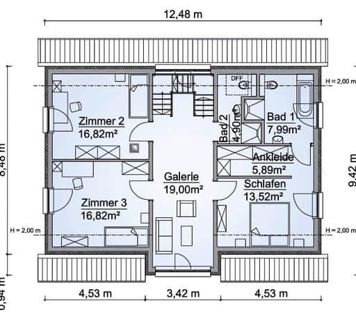 Scanhaus SH 180 D Dachgeschoss