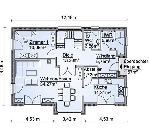 Scanhaus SH 180 D Erdgeschoss