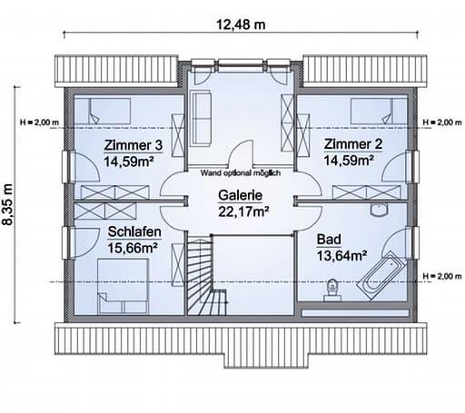 Scanhaus SH 180 FS Dachgeschoss