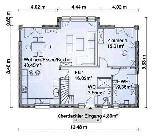 Scanhaus SH 180 FS Erdgeschoss