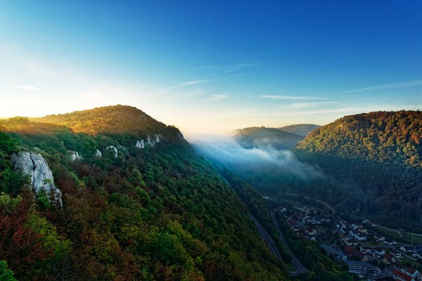 Berglandschaft der Schwäbischen Alb