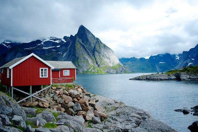 Ferienhaus in Skandinavien am See