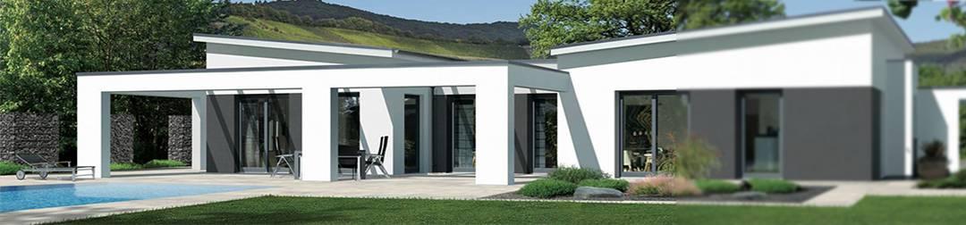Moderne doppelh user pultdach for Moderne hausmodelle