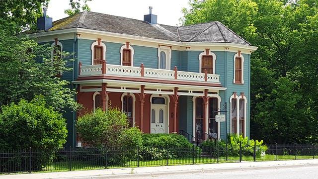 Amerikanisches Haus im viktorianischen Stil