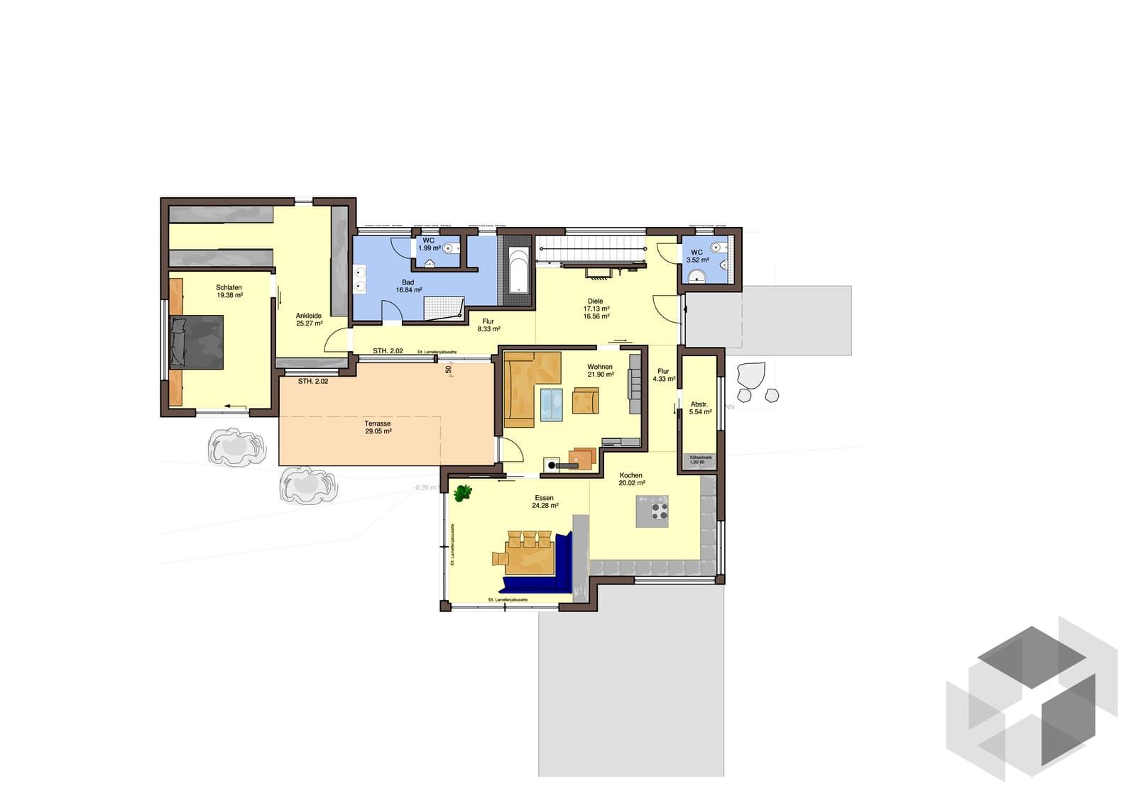 adamello von b denbender hausbau komplette. Black Bedroom Furniture Sets. Home Design Ideas
