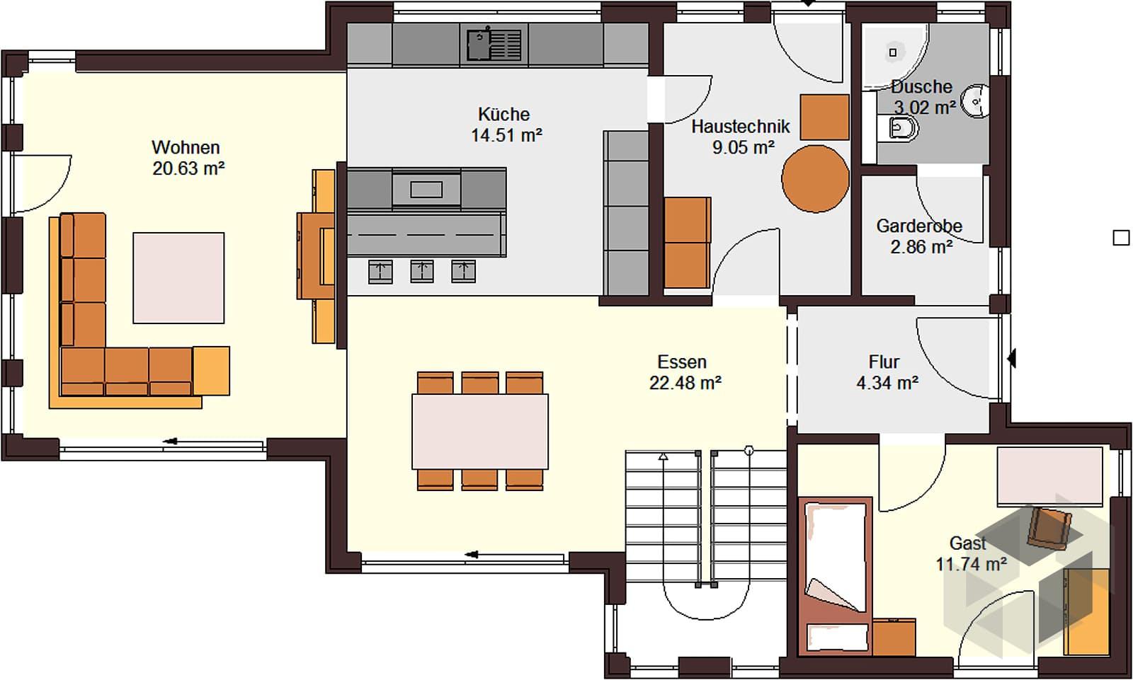 architektenhaus 151 inactive von zimmermann haus. Black Bedroom Furniture Sets. Home Design Ideas