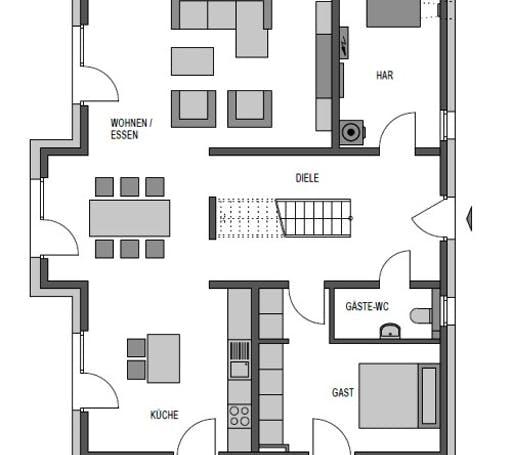 Aktiv-Engergiehaus Floorplan 1