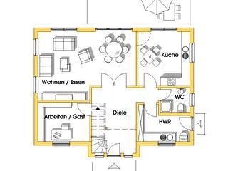 Alexandra (KfW-Effizienzhaus 40) von Dammann-Haus Grundriss 1