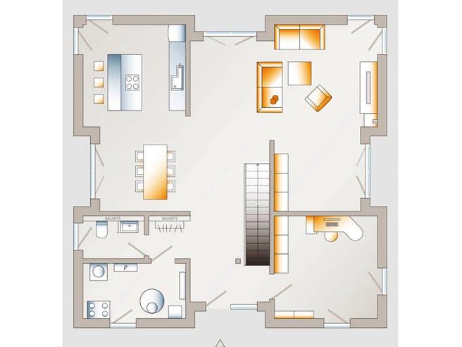 City Villa 1 von allkauf haus Grundriss 1