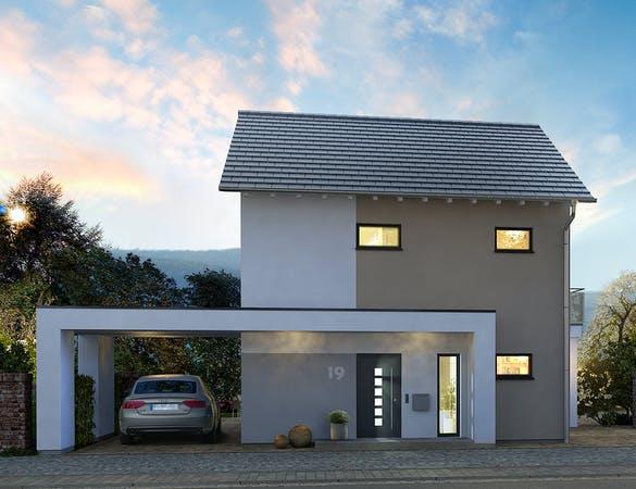 Fabulous Ein Haus mit Garage planen & bauen - Häuser & Infos   Fertighaus.de OX95