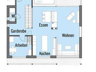 Alpenchic von Baufritz Grundriss 1