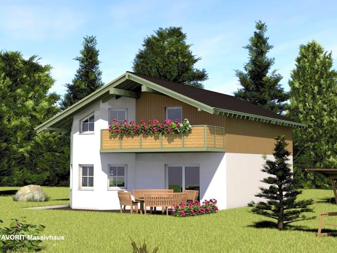 Alpenland 132 von Favorit Massivhaus Außenansicht 1