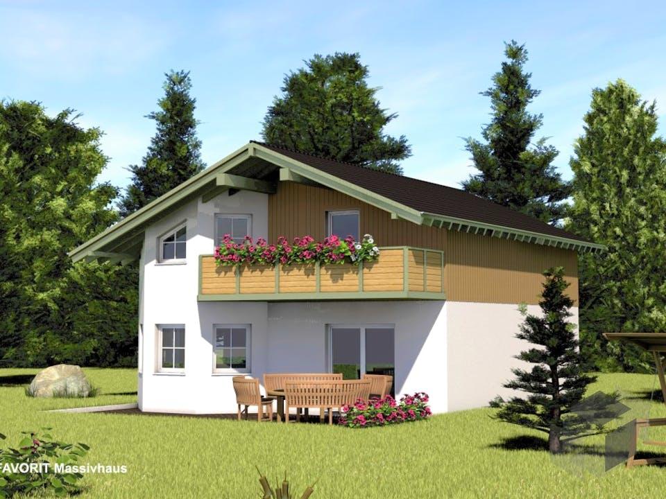 Alpenland 132 von Favorit Massivhaus Außenansicht