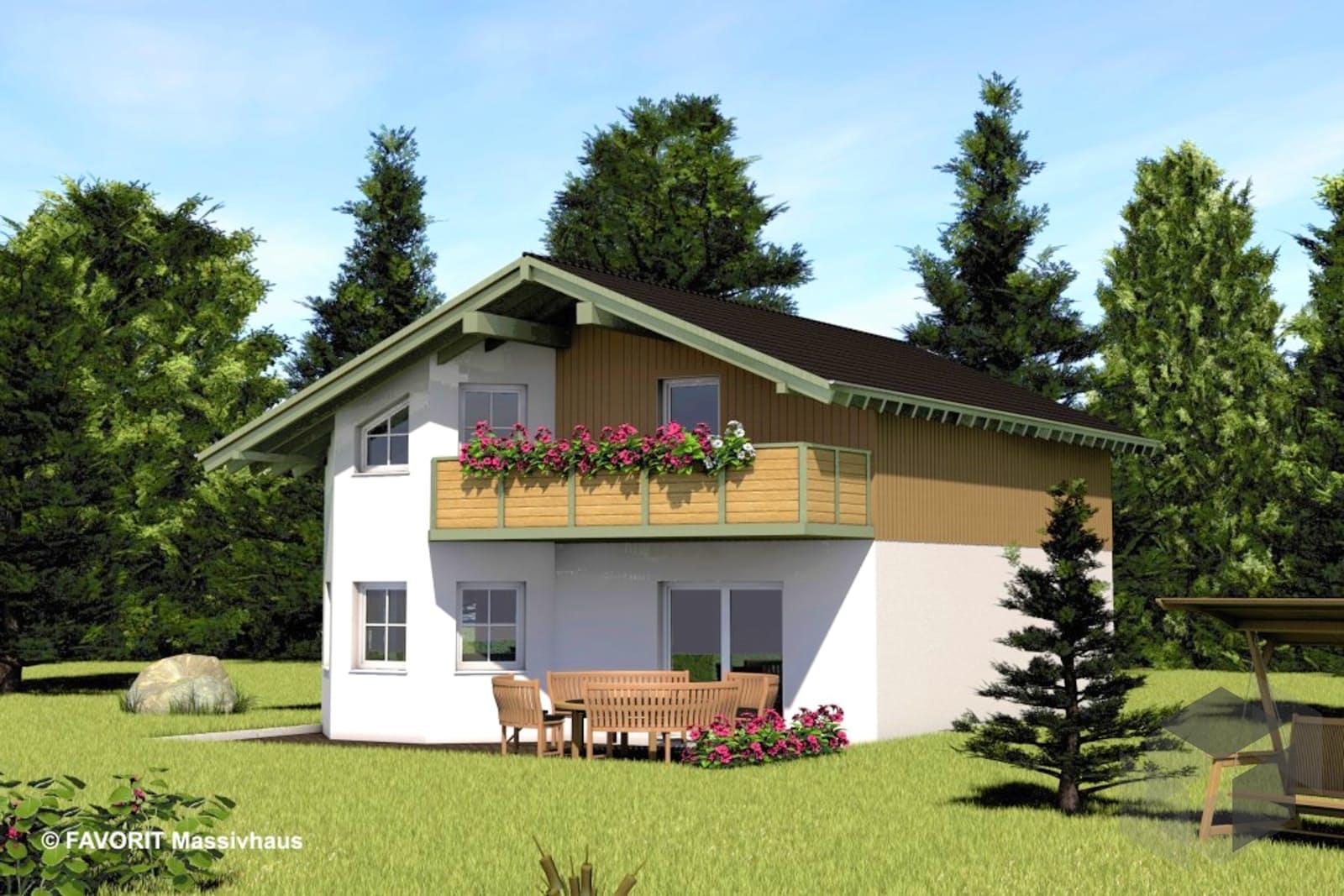 alpenland 132 von favorit massivhaus komplette. Black Bedroom Furniture Sets. Home Design Ideas