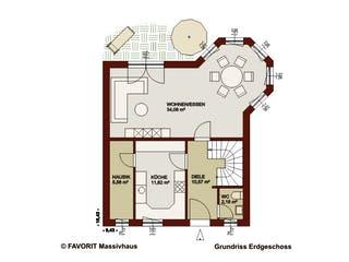 Alpenland 132 von Favorit Massivhaus Grundriss 1