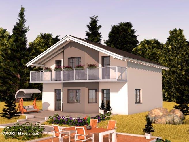 Alpenland 147 von Favorit Massivhaus Außenansicht 1