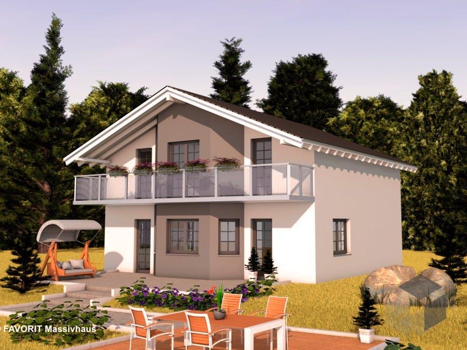 Alpenland 147 von FAVORIT Massivhaus Außenansicht