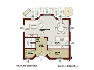 Alpenland 147 von Favorit Massivhaus Grundriss 1