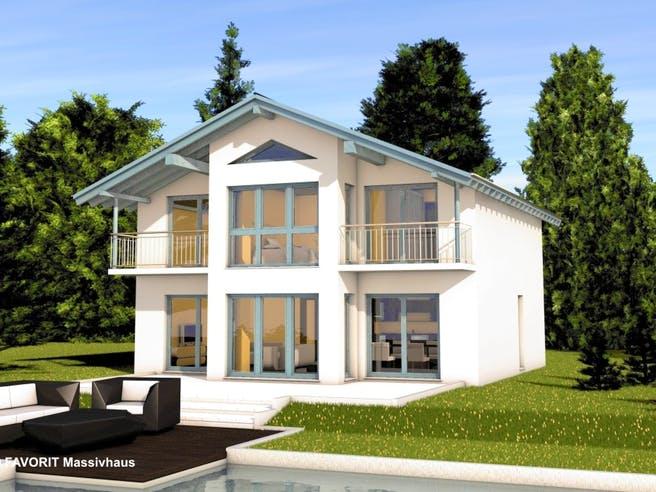 Alpenland 160 von Favorit Massivhaus Außenansicht 1