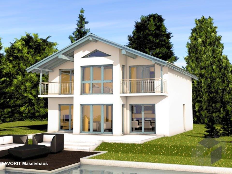Alpenland 160 von Favorit Massivhaus Außenansicht