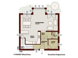 Alpenland 160 von Favorit Massivhaus Grundriss 1