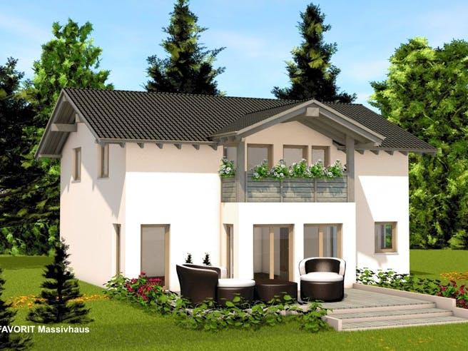 Alpenland 174 von Favorit Massivhaus Außenansicht 1