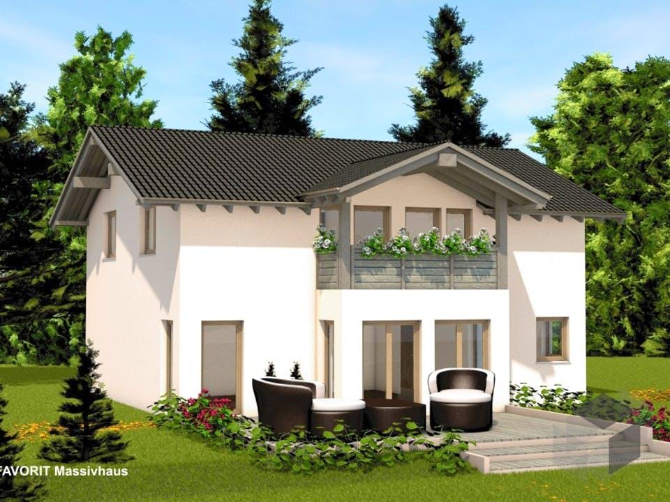 Alpenland 174 von FAVORIT Massivhaus Außenansicht