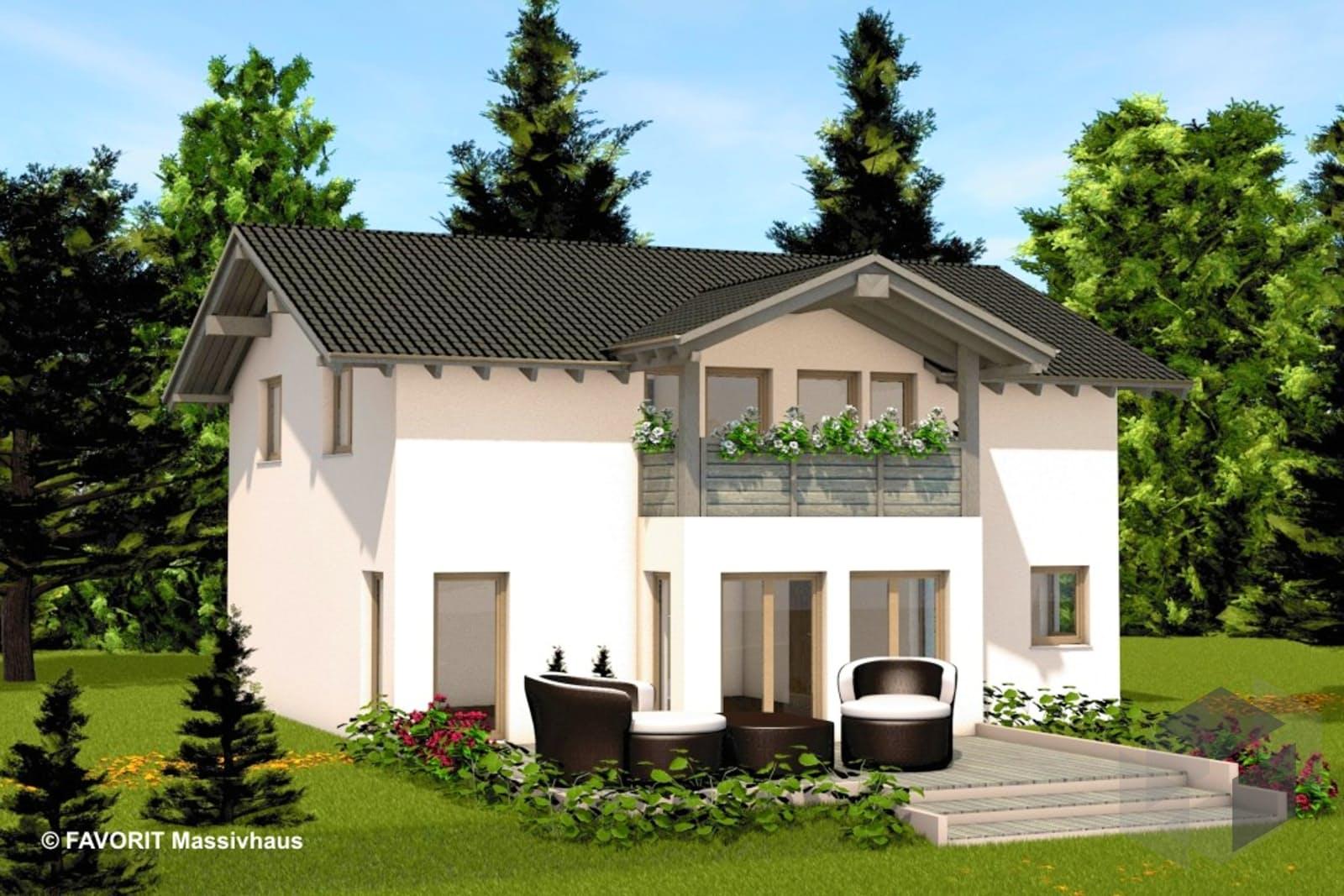alpenland 174 von favorit massivhaus komplette daten bersicht. Black Bedroom Furniture Sets. Home Design Ideas