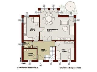 Alpenland 174 von Favorit Massivhaus Grundriss 1