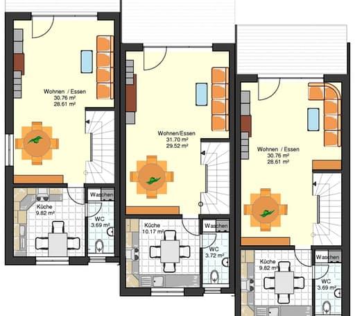 am hang 200 reihenendhaus mit tiefgarage inactive von. Black Bedroom Furniture Sets. Home Design Ideas