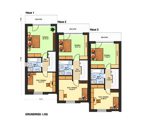 Am Hang 200 - (Reihenmittelhaus mit Tiefgarage) floor_plans 1