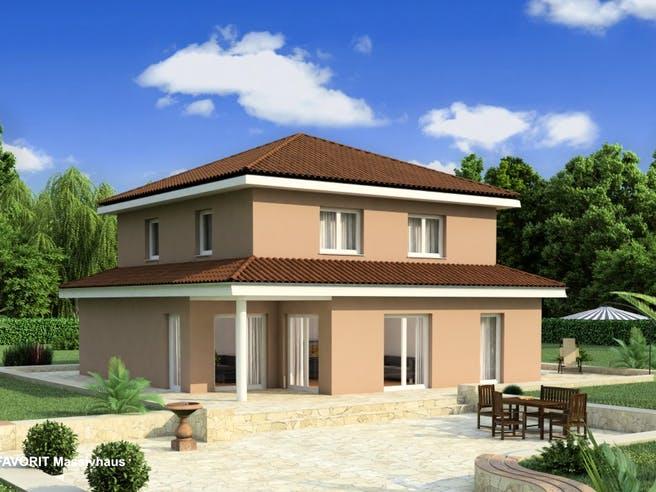 Ambiente 145 von Favorit Massivhaus Außenansicht 1