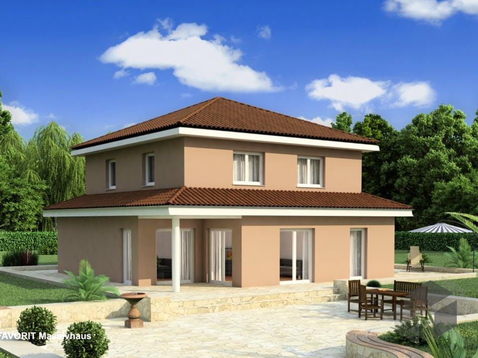 Ambiente 145 von Favorit Massivhaus Außenansicht