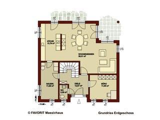 Ambiente 145 von Favorit Massivhaus Grundriss 1