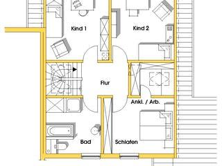 Anneke (KfW-Effizienzhaus 40) von Dammann-Haus Grundriss 1