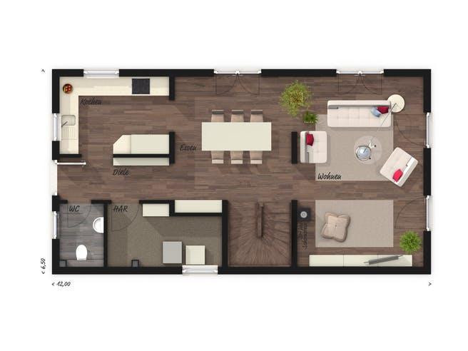 Aura 125 von Town & Country Haus Grundriss 1