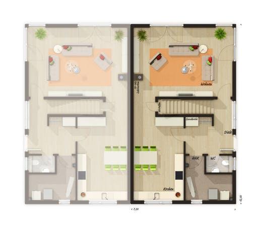 Aura 136 Doppelhaus Floorplan 1