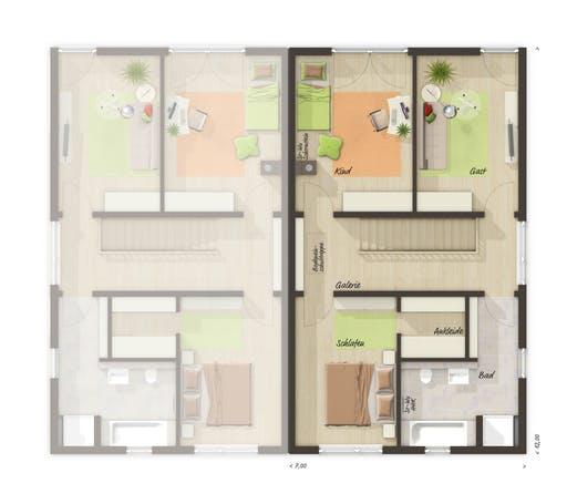 Aura 136 Doppelhaus Floorplan 2