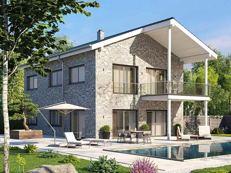 Haus mit Klinkerfassade von AUREA Massivhaus