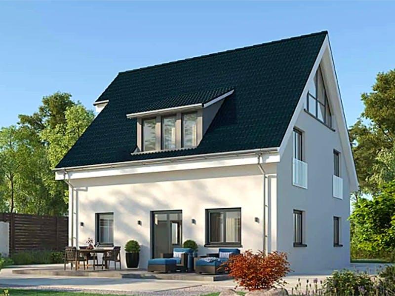 Haus mit Satteldach von AUREA Massivhaus