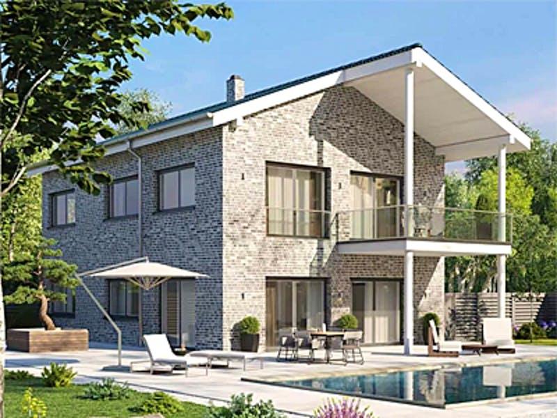 Klinkerhaus mit Satteldach von Aurea Massivhaus