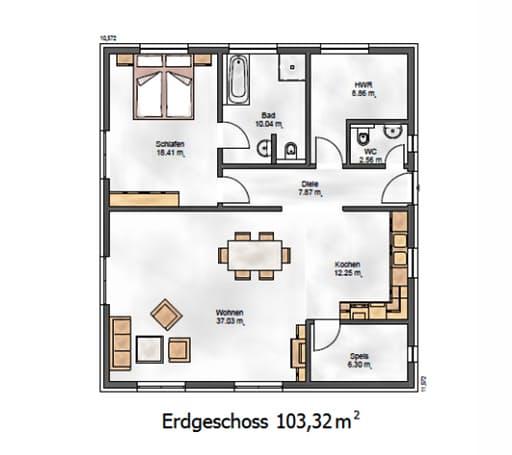 Das Ausgewogene 105 Floorplan 1