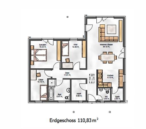 Das Ausgewogene 113 Floorplan 1