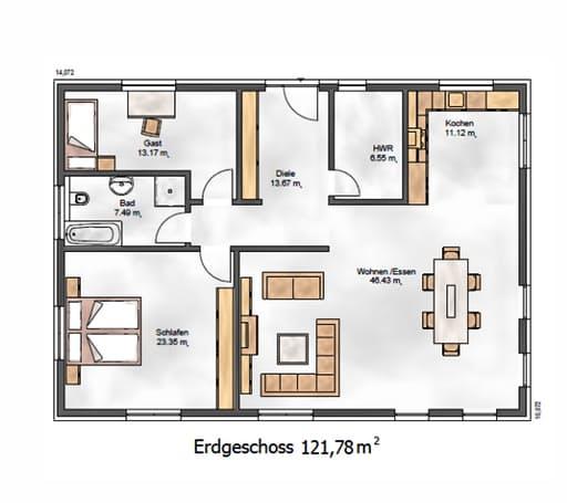 Das Ausgewogene 123 Floorplan 1